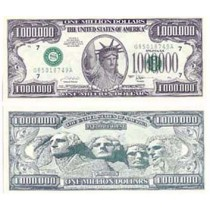 Million Dollar Bill (Private Issue,Non Government)