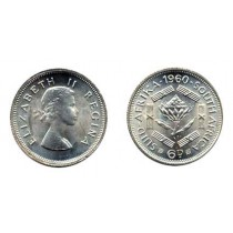 South Africa KM48-1960(U) 6 Pence