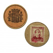 Spanish 25 Centimes stamp money