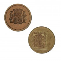 Spanish 10 Centimes stamp money