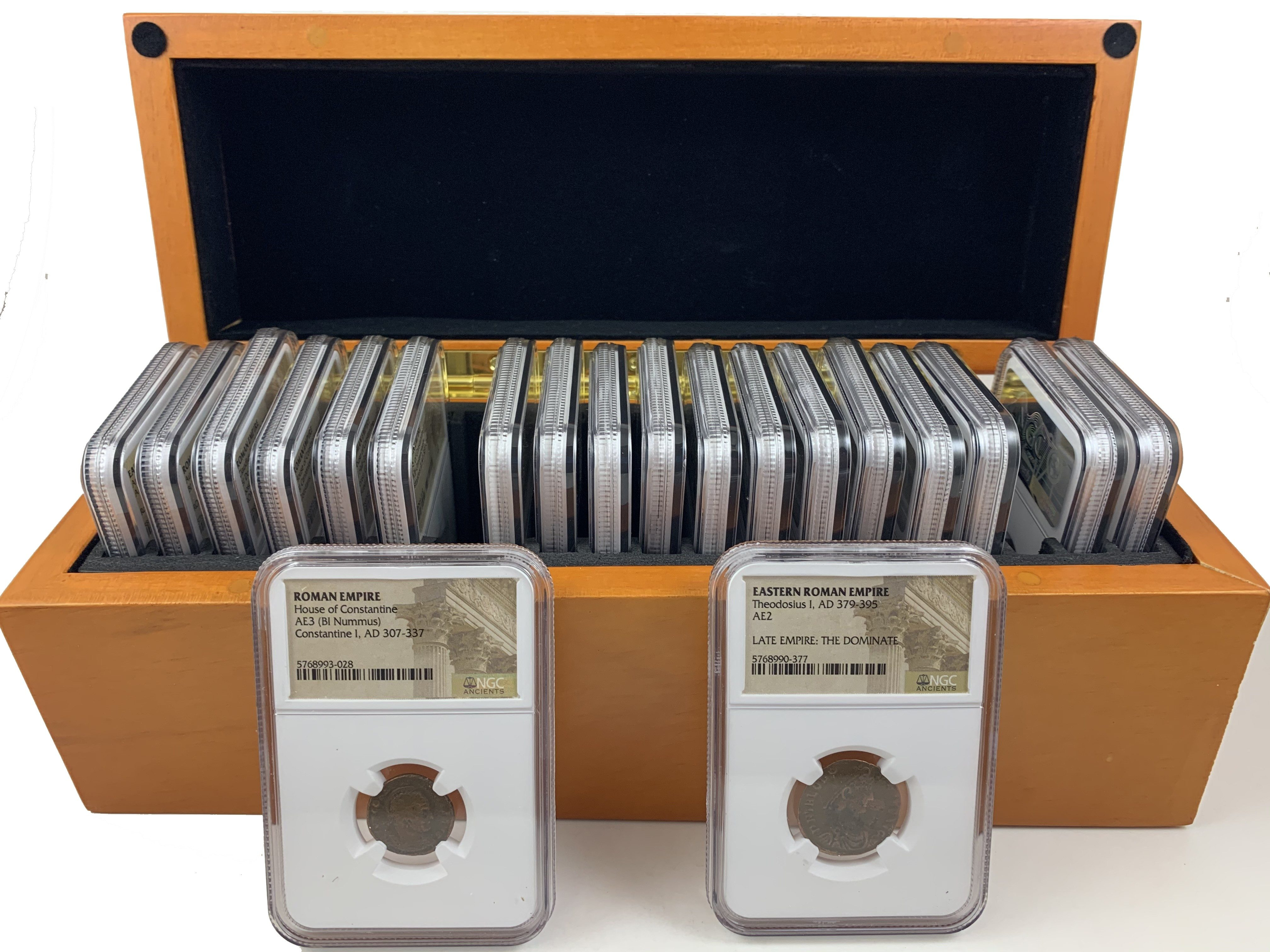 20 Roman Emperors, in ungraded NGC slabs, in box LIMITED EDITION