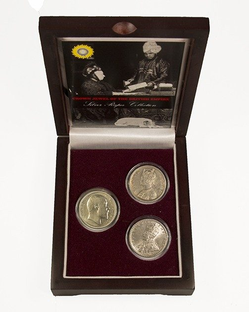 Crown Jewel of the British Empire: 3 Silver Rupee Collection