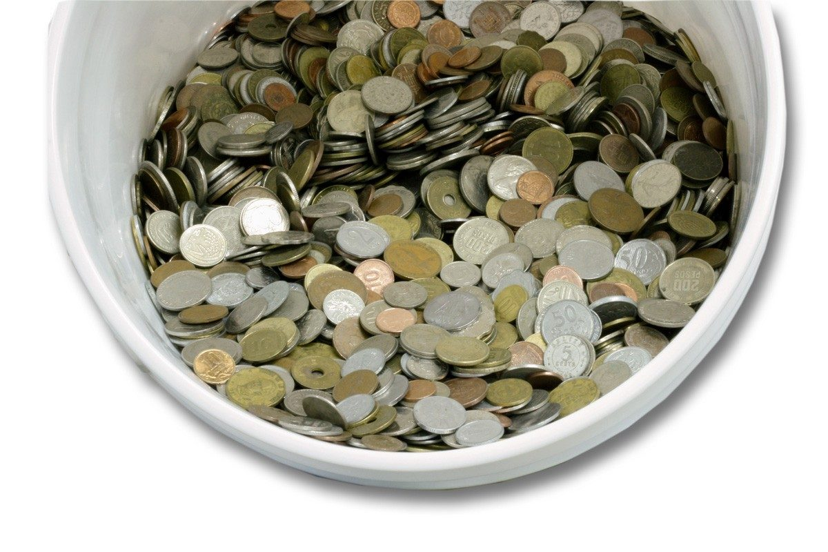 50 Lbs Mixed circulated world coins
