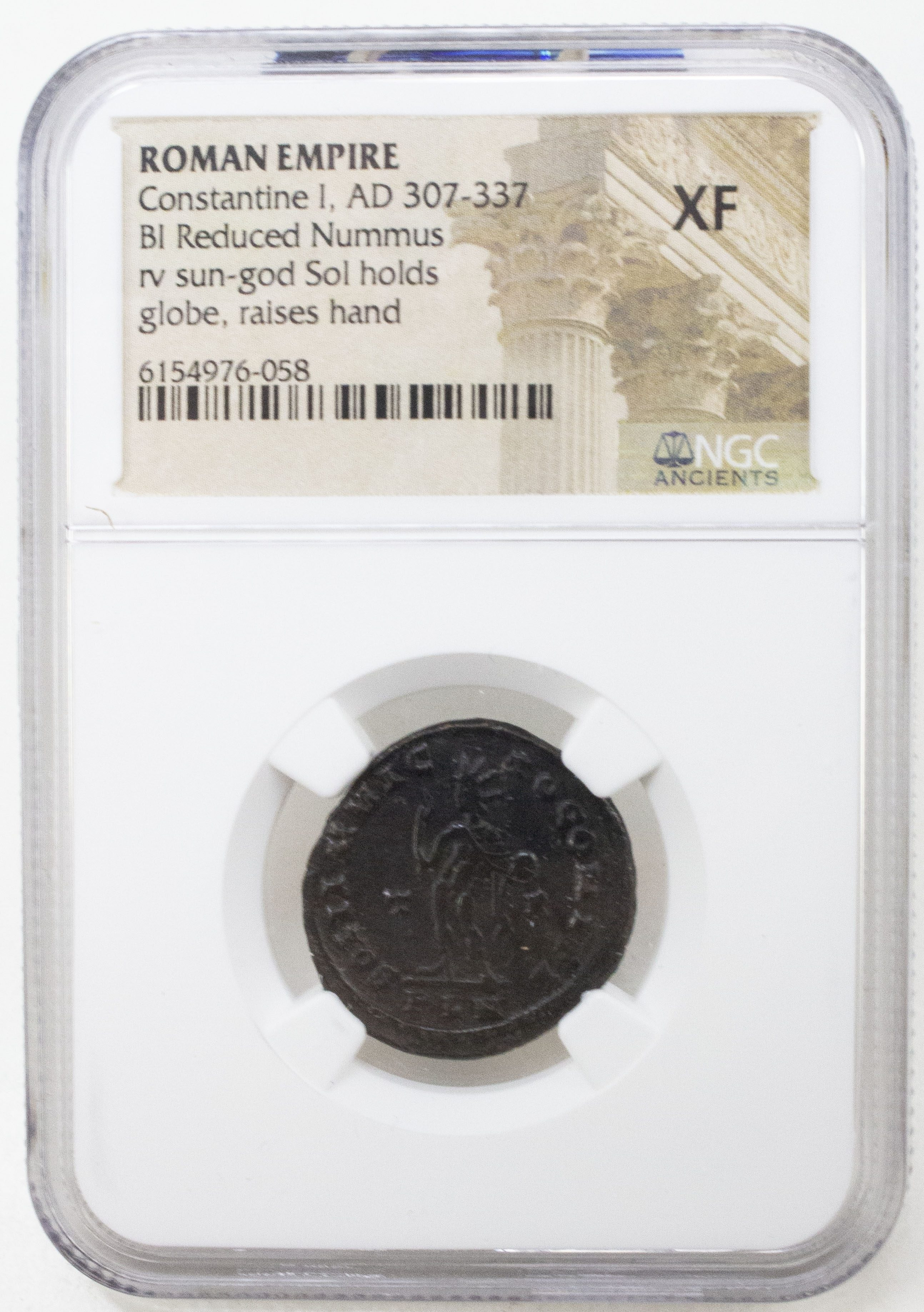 Roman AE of  Constantine I, the Great (AD 272-337) Sol Invictus NGC(XF)