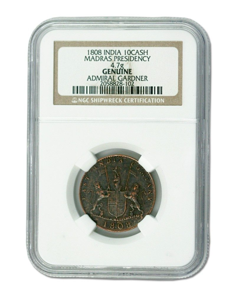Admiral Gardner (1808) Shipwreck Treasure 10 Cash NGC(High grade)