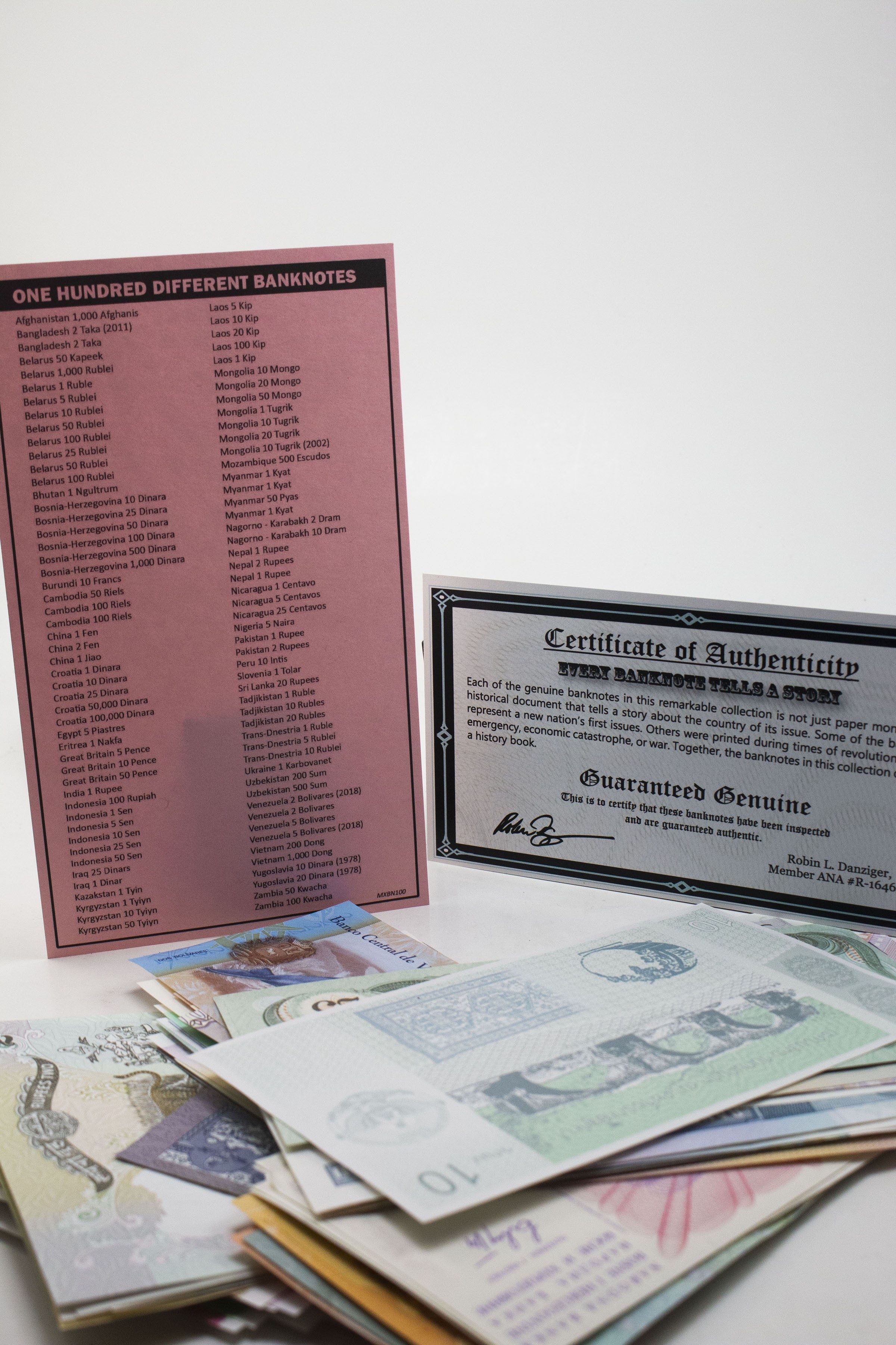 100 different banknotes